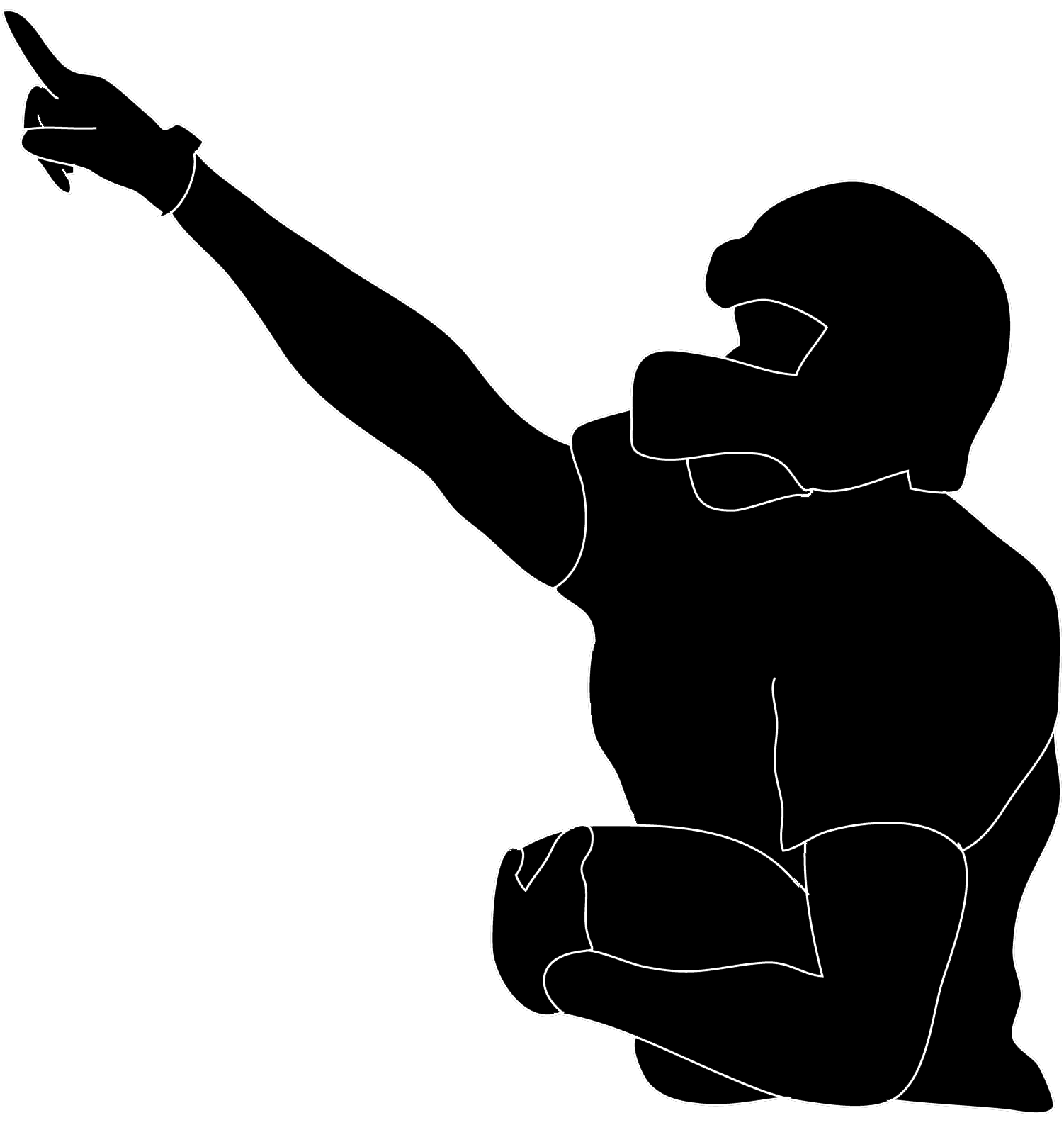 Kneeling football player clipart graphic royalty free Nfl Silhouette at GetDrawings.com | Free for personal use Nfl ... graphic royalty free