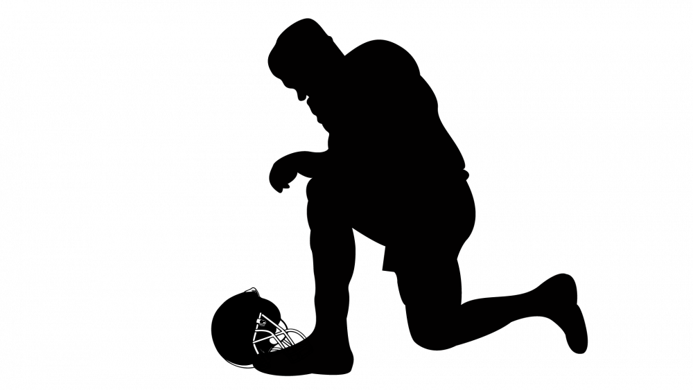 Kneeling football player clipart vector library Kneeling Silhouette at GetDrawings.com | Free for personal use ... vector library