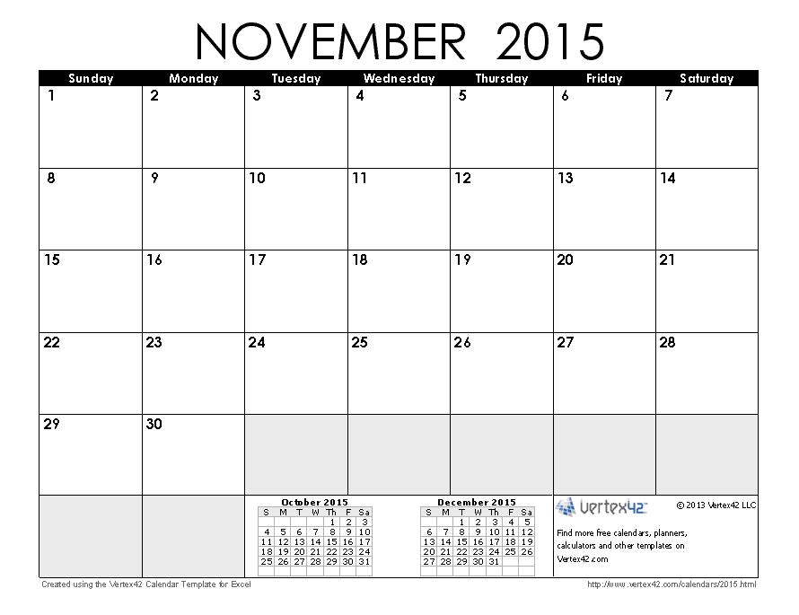 2015 november calendar clipart royalty free stock Nov 2015 Calendar Clipart - Clipart Kid royalty free stock