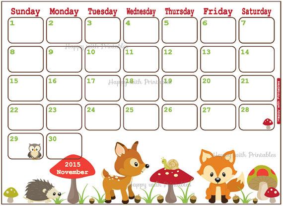 2015 november calendar clipart svg library download Items similar to SALE 50% OFF Calendar November 2015 Printable ... svg library download