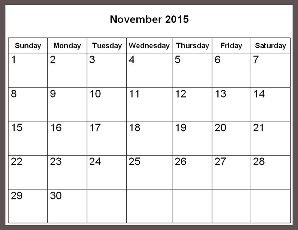 2015 november calendar clipart banner free stock November calendar clipart 2015 - ClipartFest banner free stock