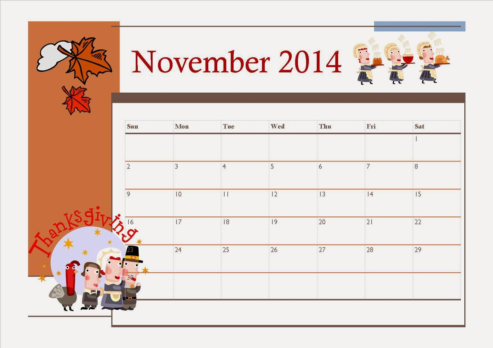 2015 november calendar clipart jpg black and white download Clipart calendar november 2014 - ClipartFest jpg black and white download