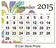 2015 november calendar clipart freeuse November 2015 Illustrations and Clip Art. 1,297 November 2015 ... freeuse