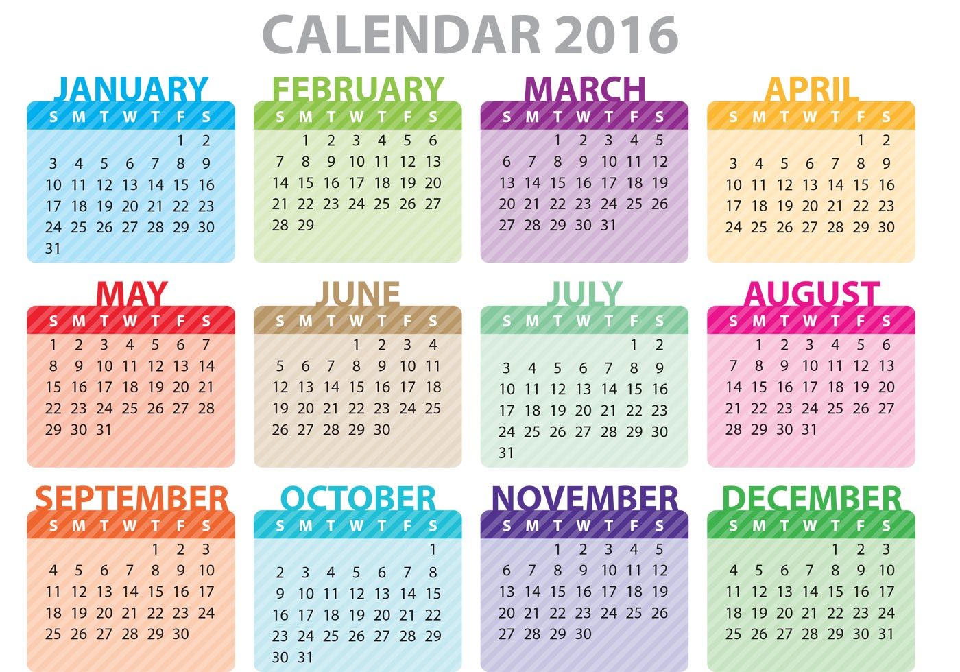 2016 Calendar Clipart - Clipart Kid clip transparent library