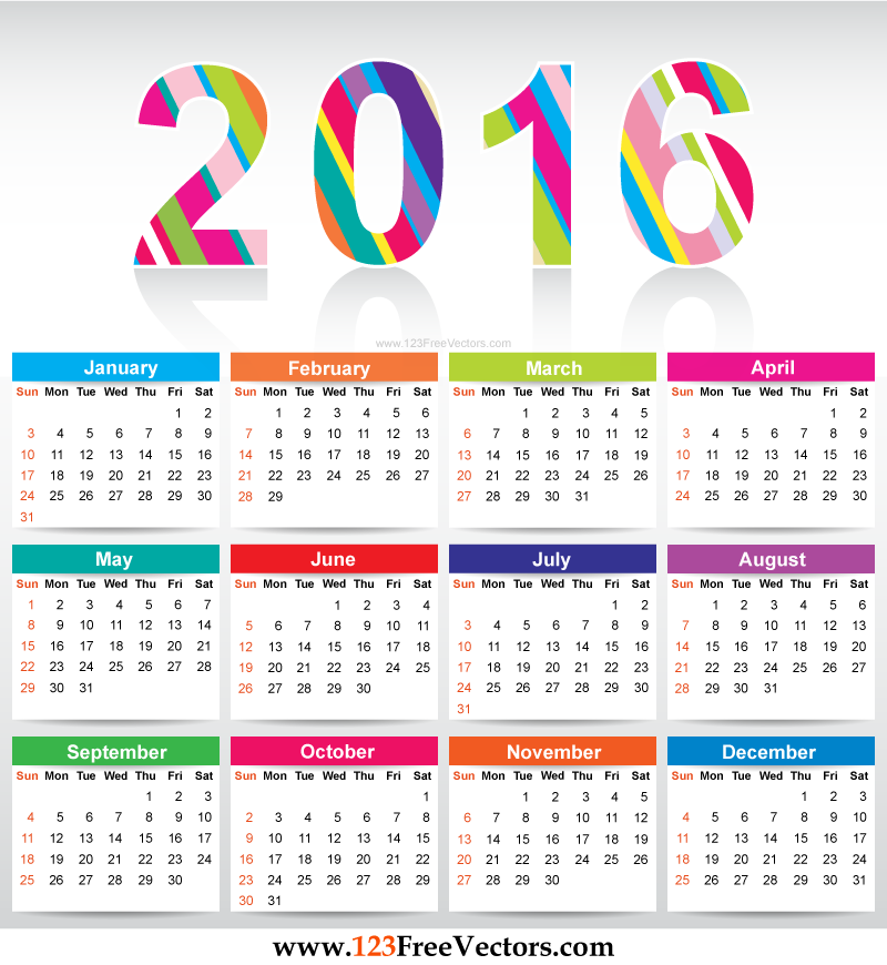 2016 calendar clipart clip art royalty free stock Calendar clipart 2016 - ClipartFest clip art royalty free stock