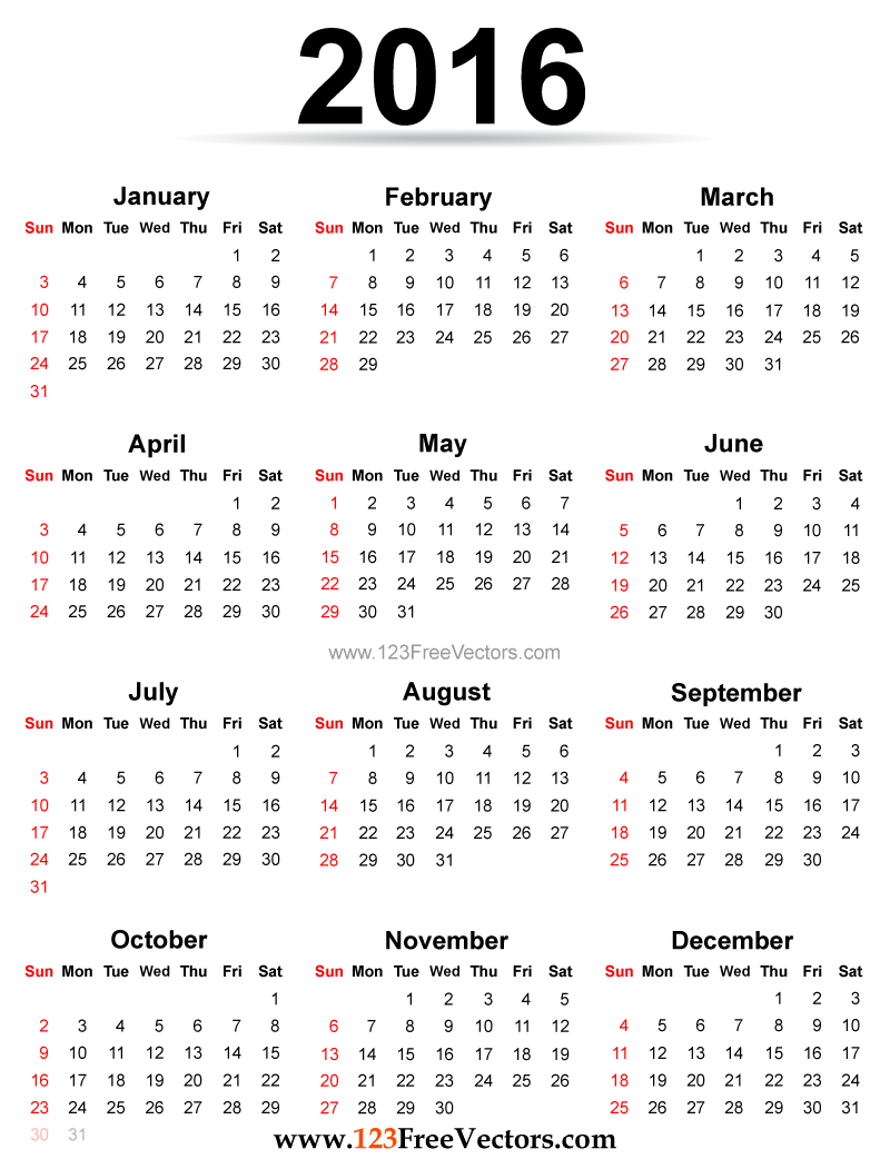 clipartfest and. 2016 calendar clipart free photoshop