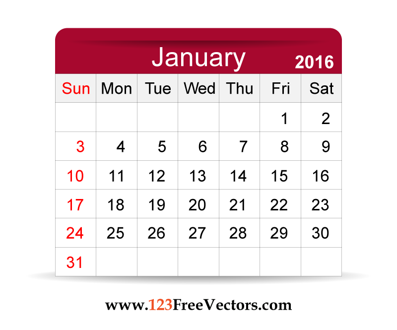 2016 calendar free clipart svg free library Free clipart calendar 2016 - ClipartFest svg free library