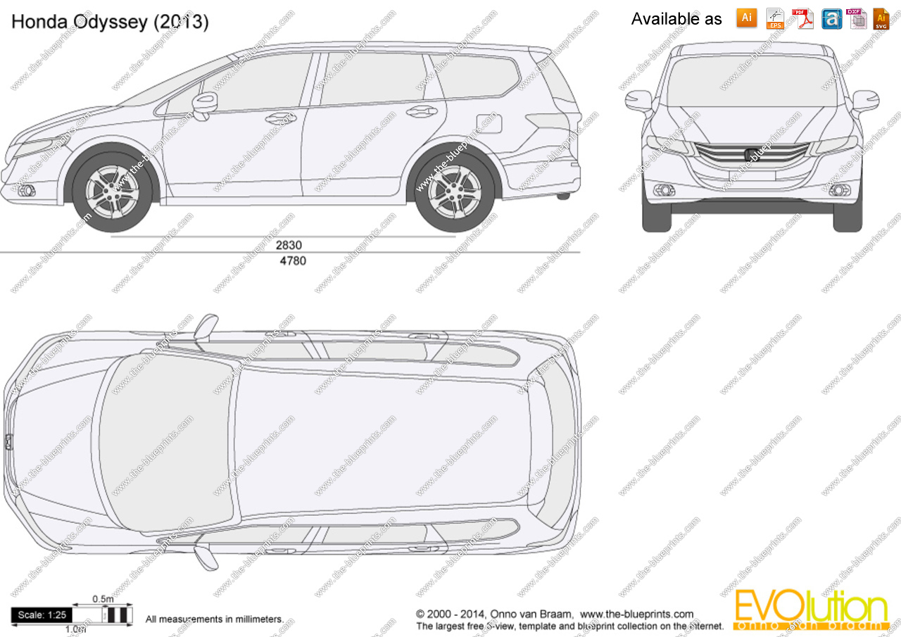 2016 honda odyssey clipart picture stock Honda Odyssey vector drawing picture stock