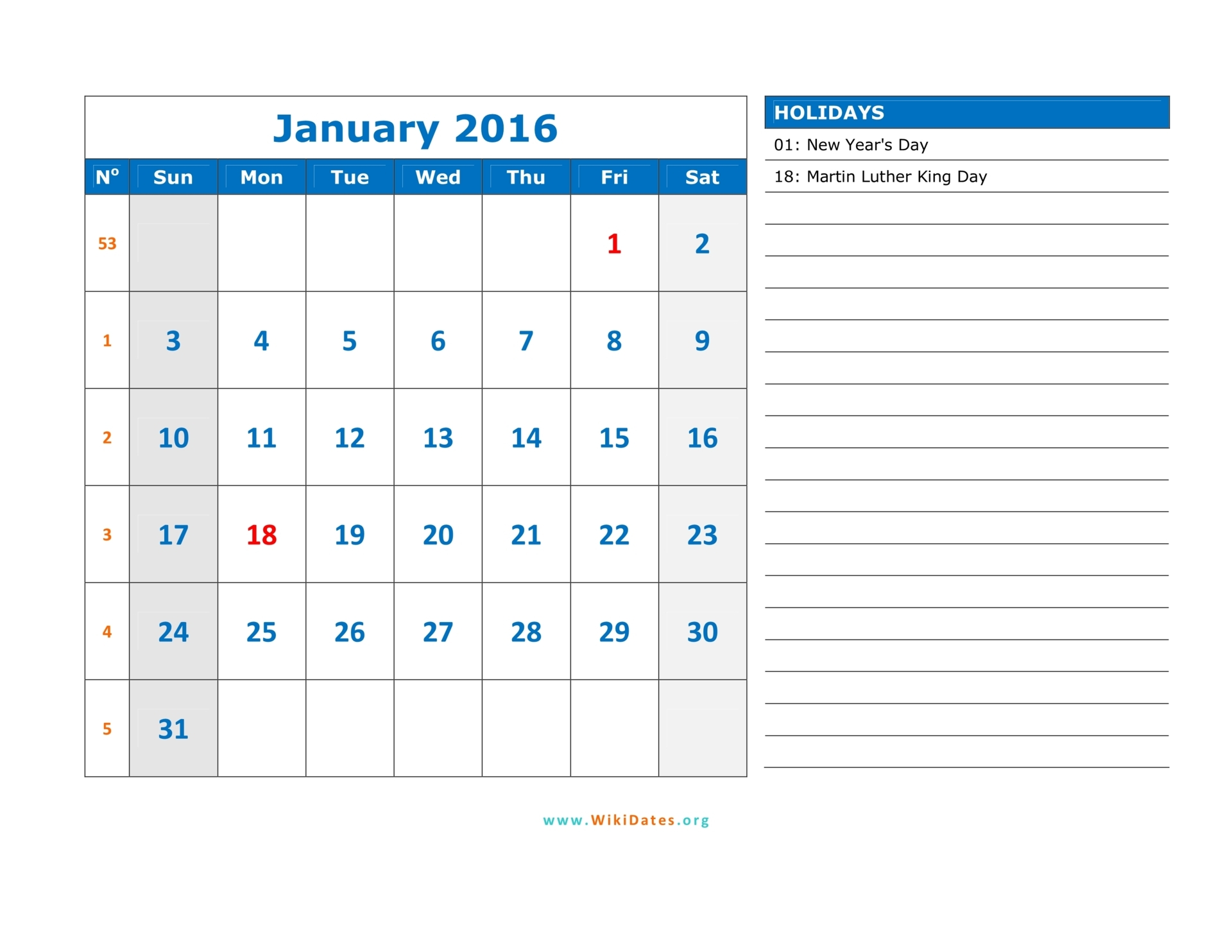 2016 january calendar clipart picture free download January 2016 clipart - ClipartFox picture free download