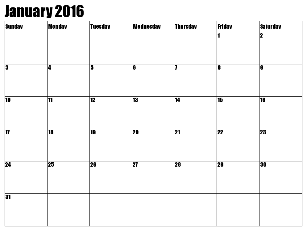 2016 january calendar clipart graphic transparent library Clipart january 2016 calendars - ClipartFest graphic transparent library
