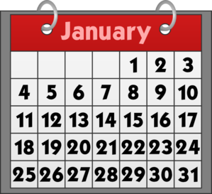2016 january calendar clipart image library stock Monthly Calendar Clip Art | Blank Calendar Design 2017 image library stock