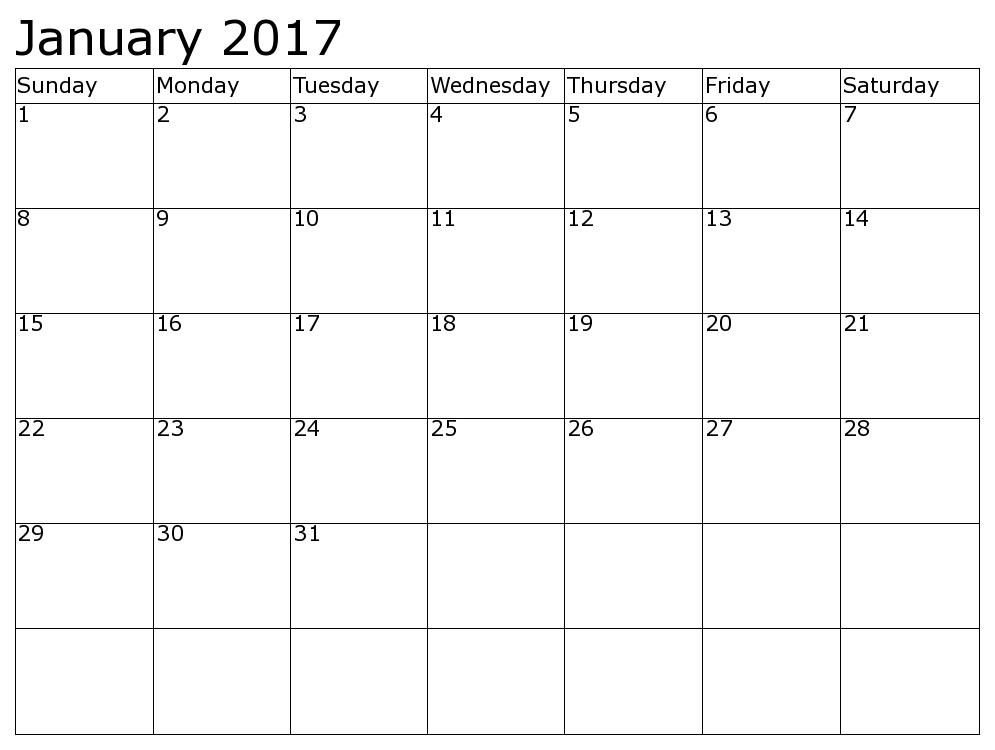 2016 january calendar clipart transparent download January 2017 Calendar Clipart transparent download