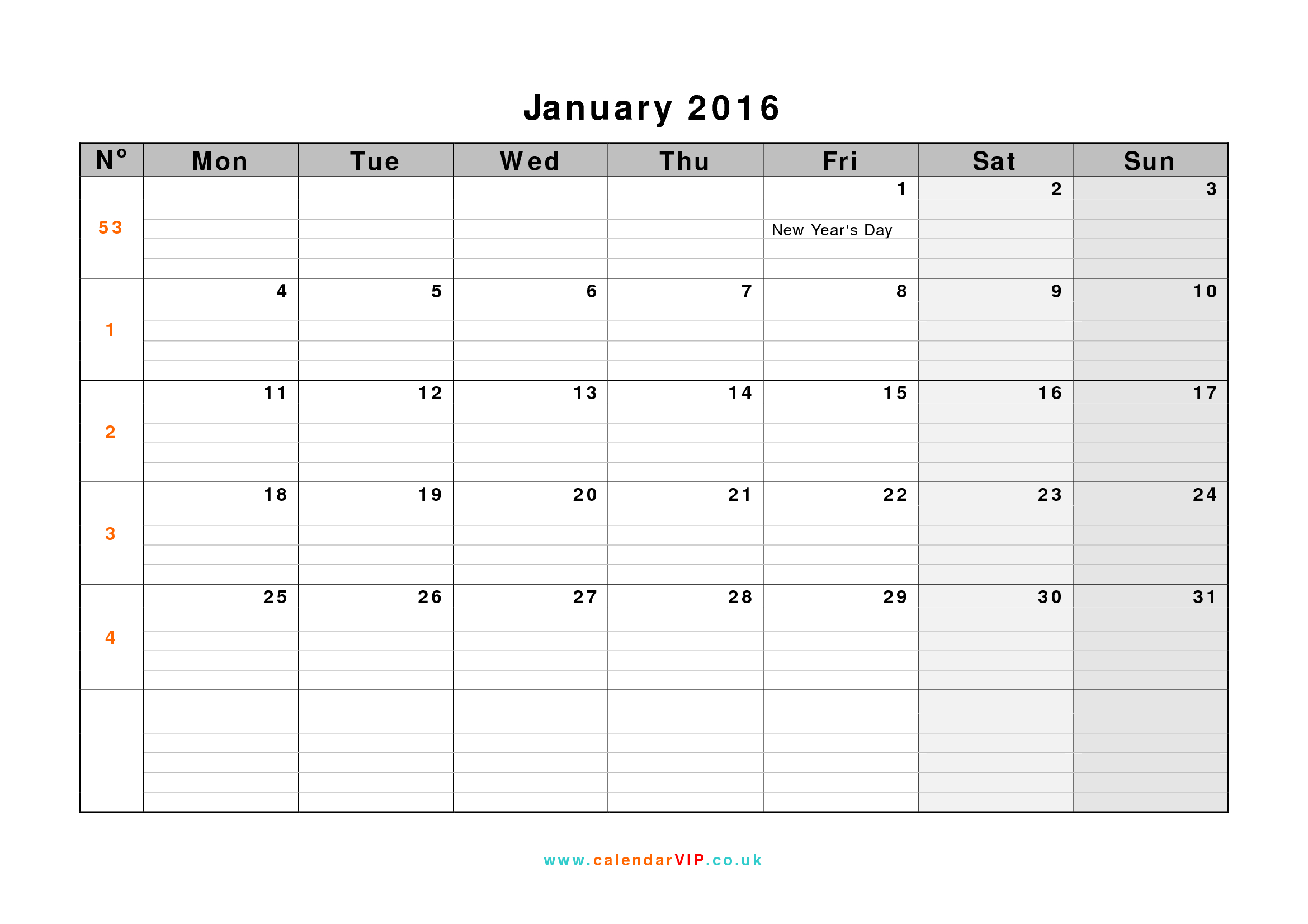 2016 january calendar clipart svg freeuse library 2016 January Calendar Clipart - Clipart Kid svg freeuse library