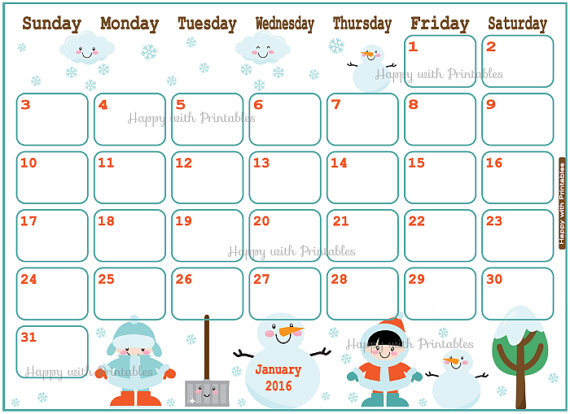 2016 january clipart png library stock Clipart january 2016 calendars - ClipartFox png library stock