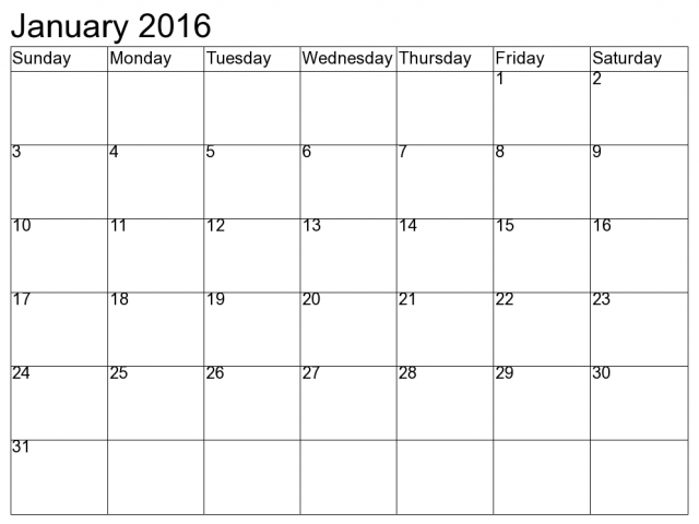 January 2016 calendar clipart | New Hd Images png library download