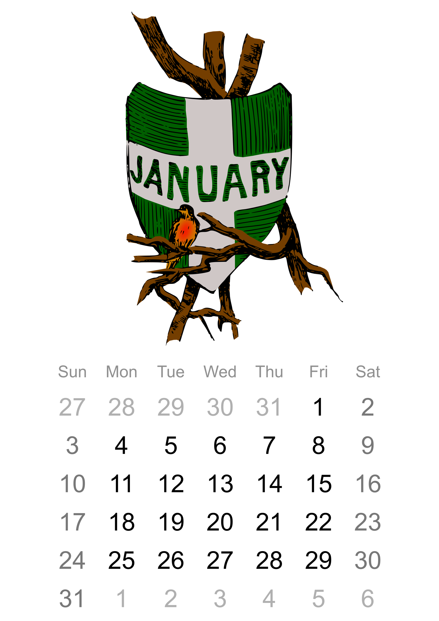 2016 january clipart images. Calendar big image png