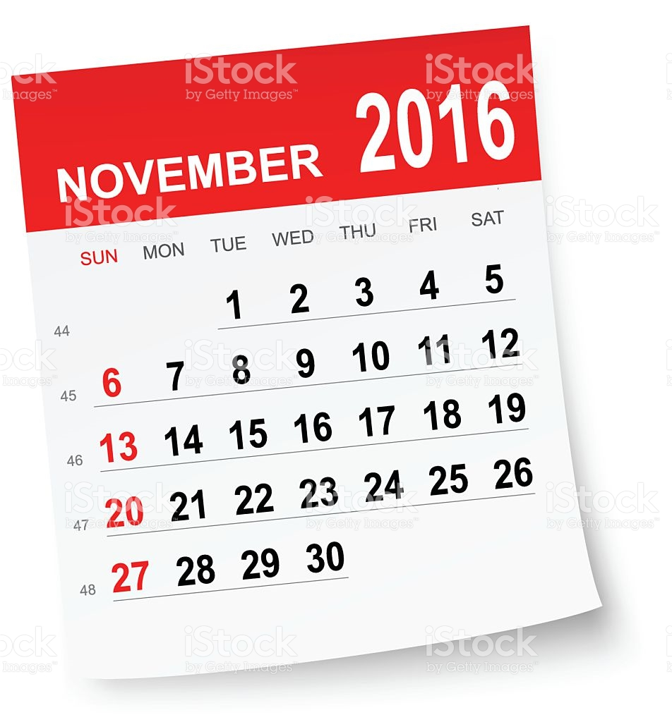 2016 monthly calendar clipart image black and white download Monthly calendar november 2016 clipart - ClipartFest image black and white download