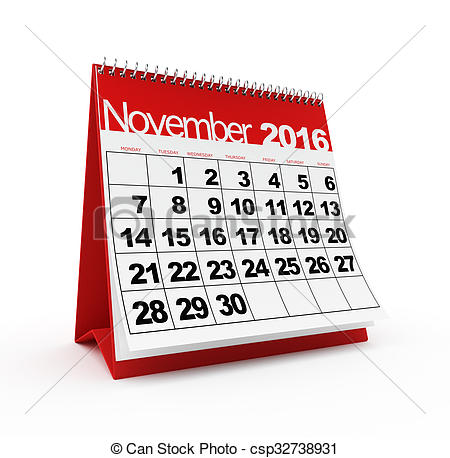 2016 monthly calendar clipart picture freeuse stock Monthly calendar november 2016 clipart - ClipartFox picture freeuse stock