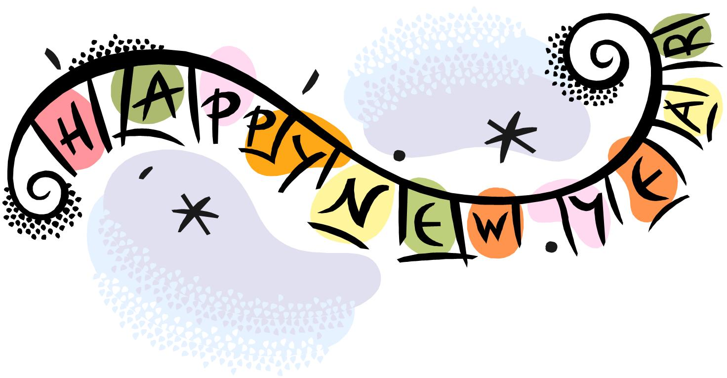 Happy new year greeting clipart