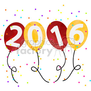 2016 new years clipart png freeuse stock 2016 party balloons happy new year clipart. Royalty-free clipart # 398166 png freeuse stock
