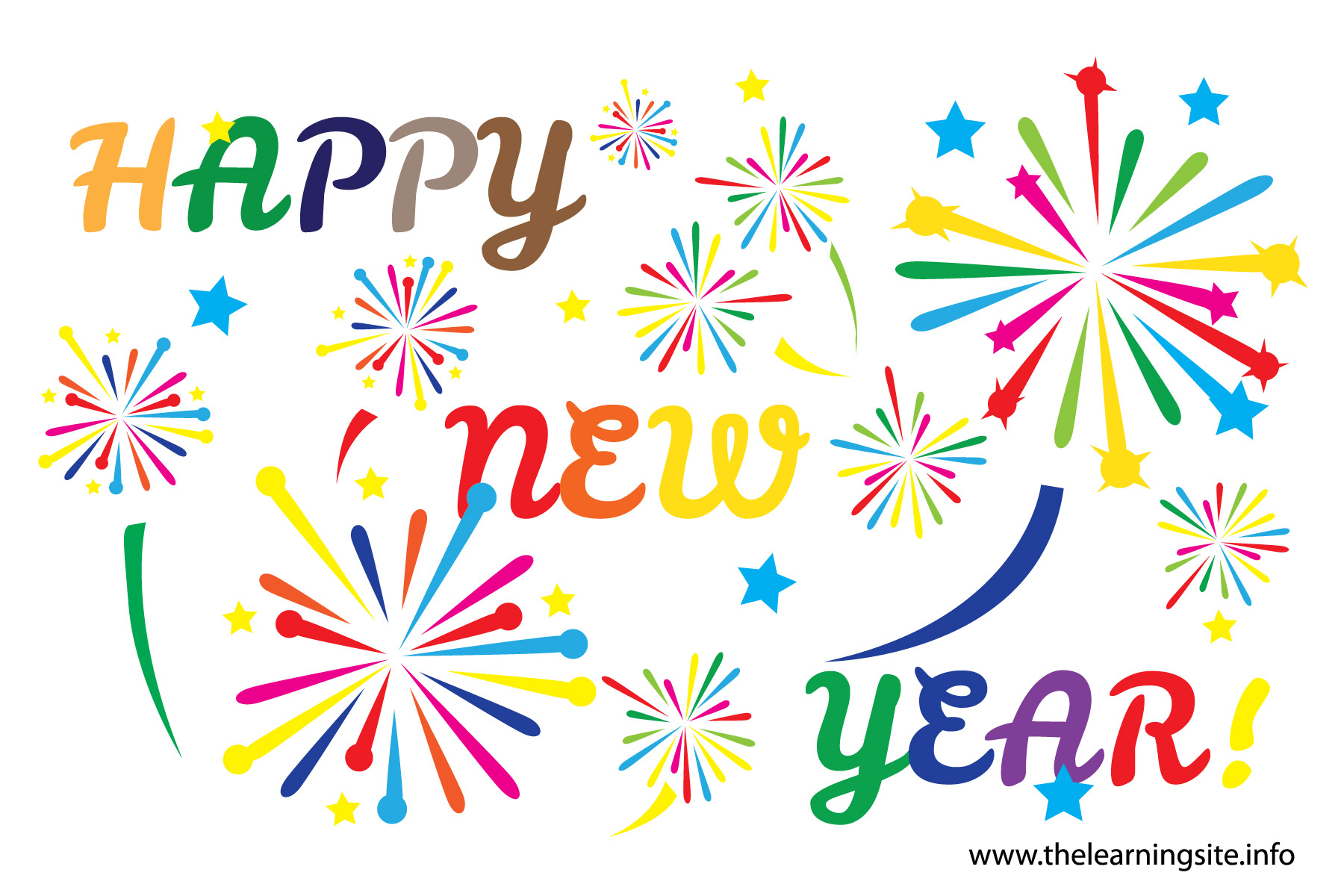 Happy year for . Free new years day clipart