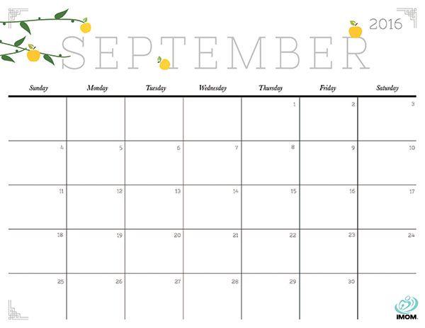 Disney clipart september calendar 2016 - ClipartFest stock