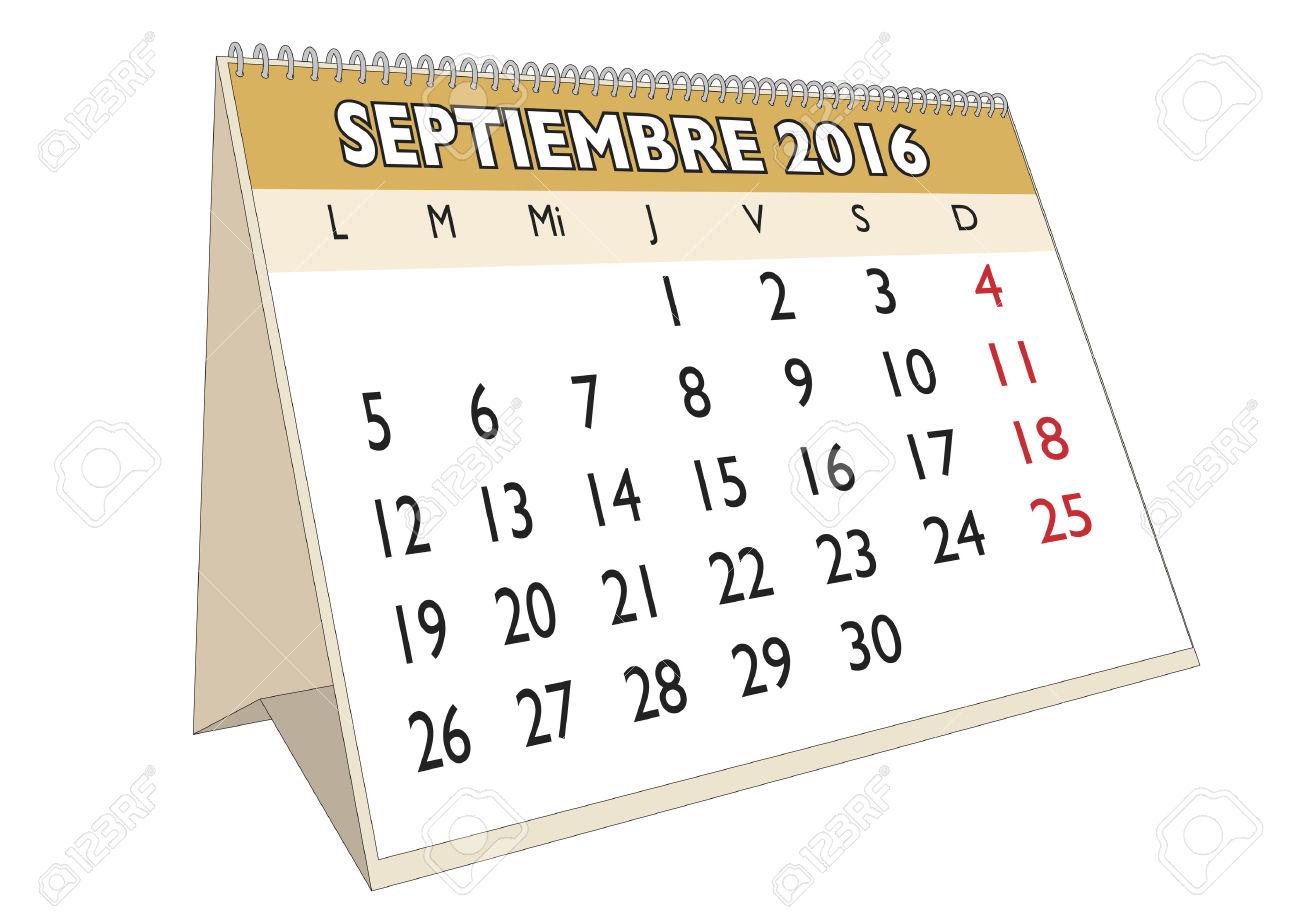 September month calendar clipart - ClipartFest jpg download