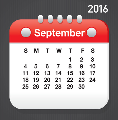 2016 spetember calendar clipart clipart black and white Clipart for september calendar - ClipartFest clipart black and white