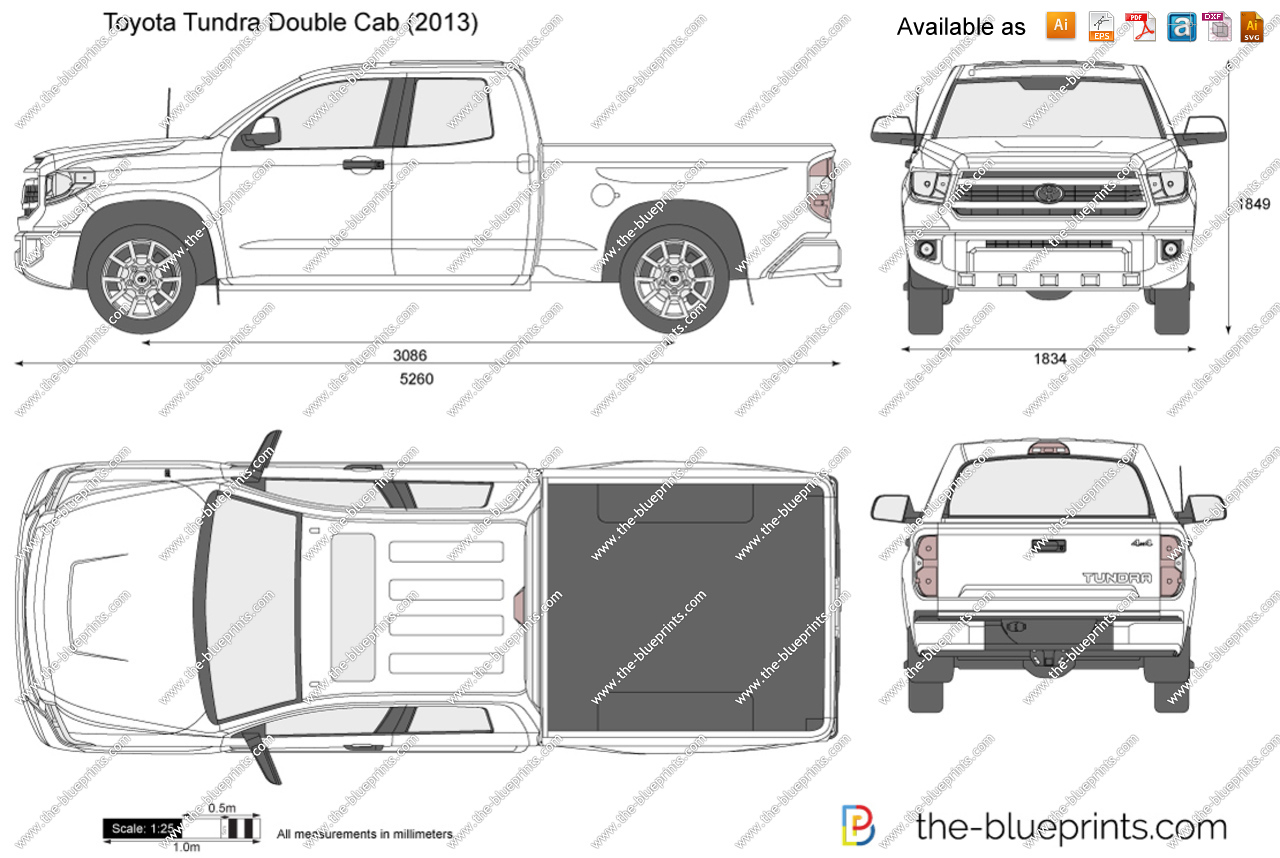 2016 toyota tundra clipart black and white download Toyota Tundra Double Cab vector drawing black and white download