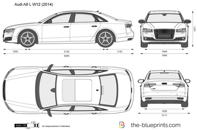 2017 audi a8 clipart graphic library library Audi A8 L W12 vector drawing graphic library library