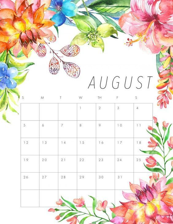2017 august calendar clipart graphic royalty free library Pin by Raghuveer Singh on August 2018 Printable Calendar | August ... graphic royalty free library