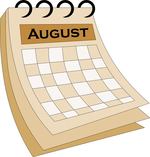 Vector clipart free august graphic free library August clipart calendar - ClipartPost graphic free library