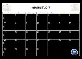 2017 august calendar clipart banner freeuse stock August calendar 2017 cute clipart images gallery for free download ... banner freeuse stock