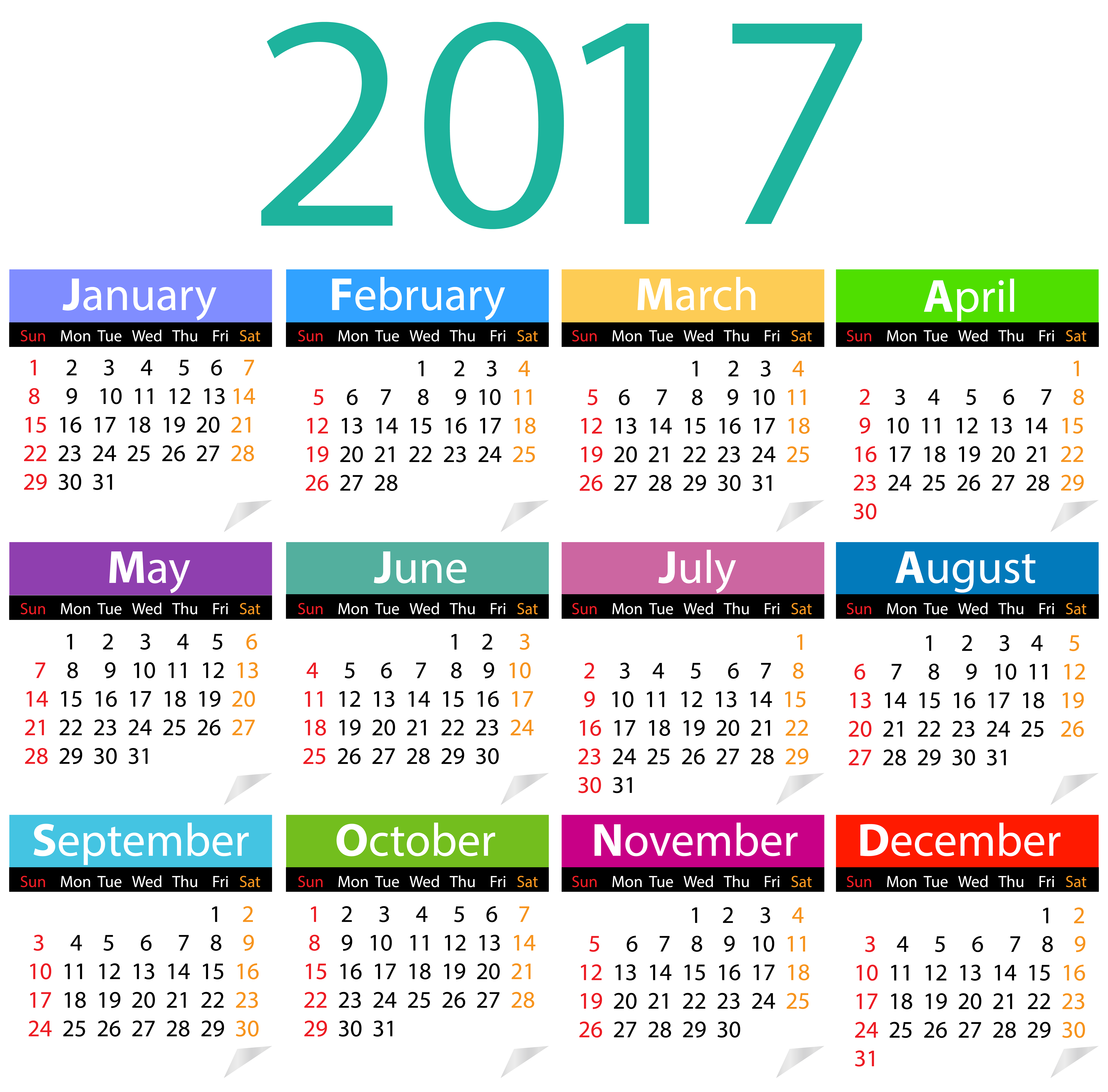 2017 august calendar clipart picture black and white stock 2017 Calendar PNG Clip Art Image | Gallery Yopriceville - High ... picture black and white stock