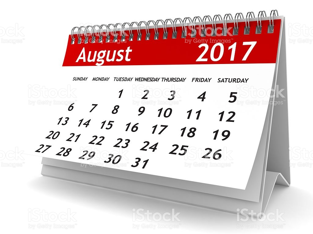 2017 august calendar clipart jpg black and white August Calendar Clipart jpg black and white