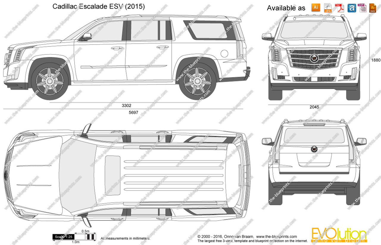 2017 cadillac escalade clipart jpg black and white library Cadillac Escalade ESV vector drawing jpg black and white library