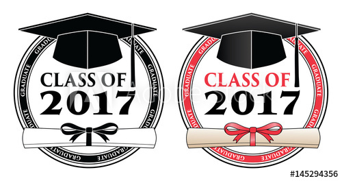 2017 cap clipart picture transparent Graduating Class of 2017 - Vector is a design in color or in black ... picture transparent