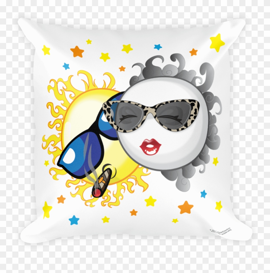2017 cartoon eclipse clipart banner freeuse Solar Eclipse Throw Pillow - Solar Eclipse Of August 21, 2017 - Png ... banner freeuse