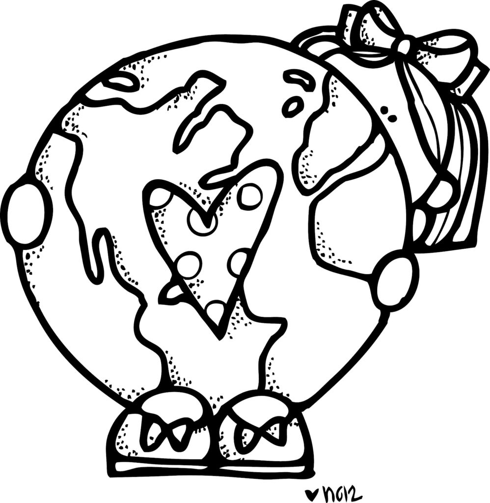 2017 clipart black and white png transparent Earth Day Clip Art [164+] For Kids of all Ages - April 2019 Collection png transparent
