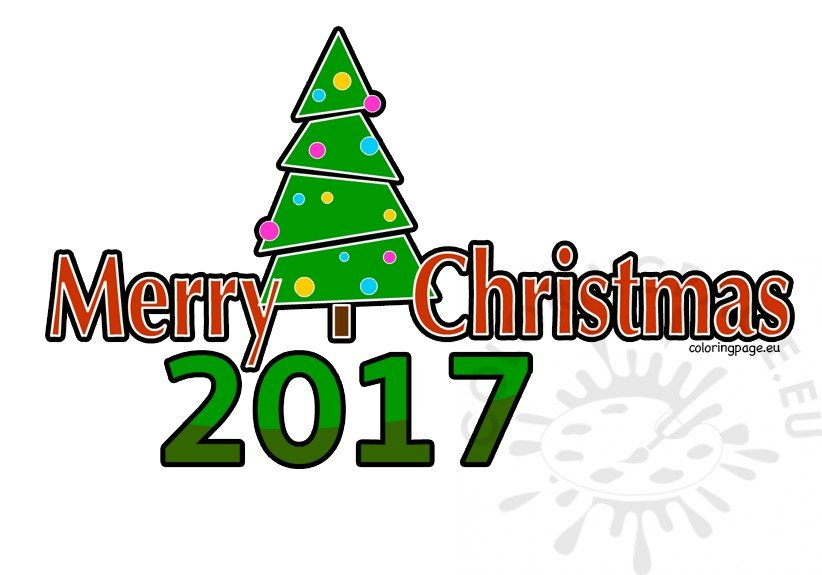 2017 clipart christmas freeuse stock Merry Christmas 2017 clipart – Coloring Page freeuse stock
