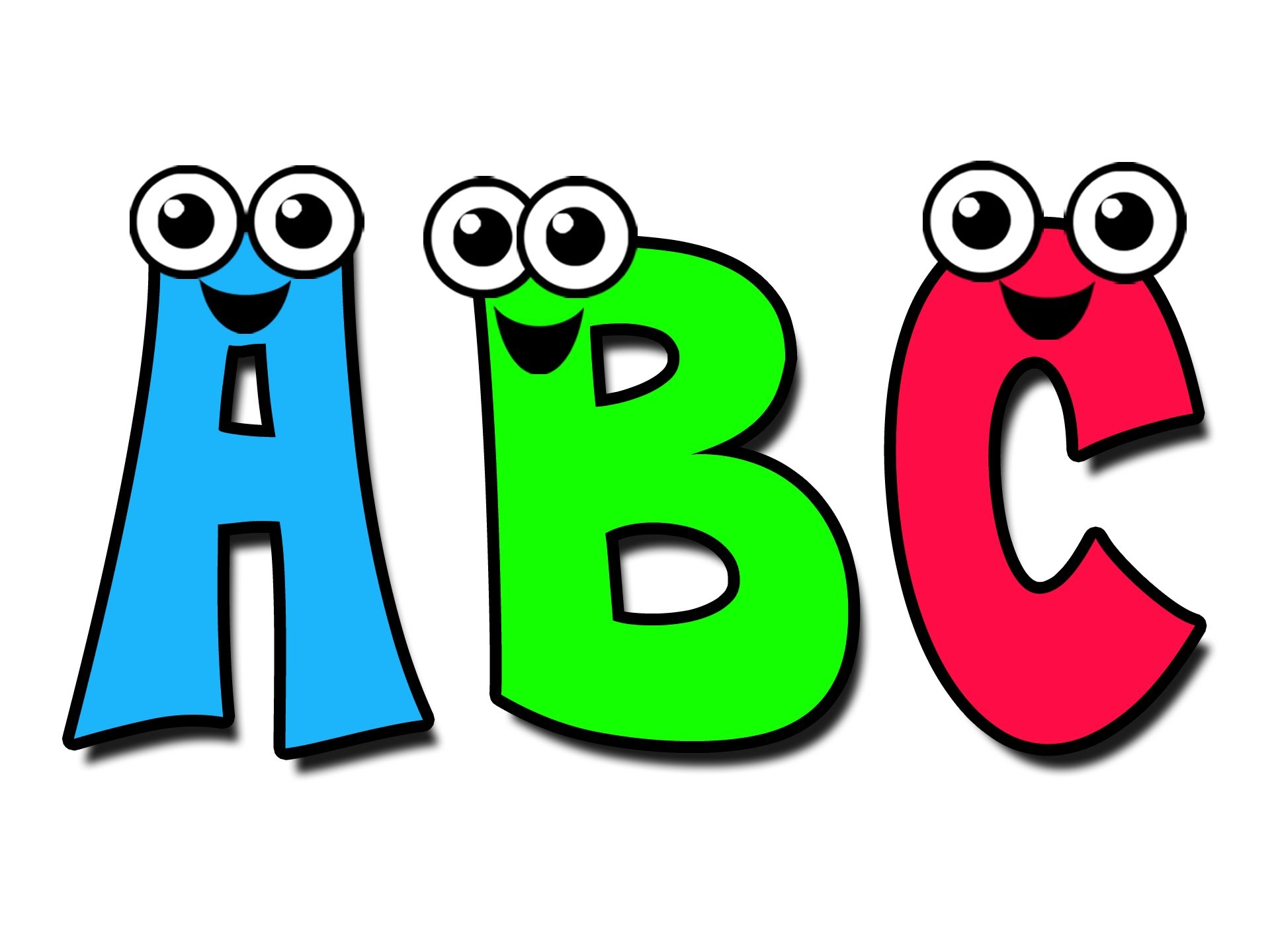 Child knowing abcs clipart