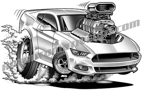 2017 ford mustang clipart clipart library download 2017 Muscle Car Cartoon - JPEG clipart library download