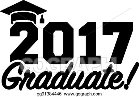 Vector Art - Graduation 2017 with hat. Clipart Drawing gg91384446 ... picture freeuse