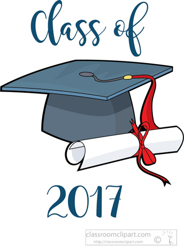 Graduation Clipart Graduate Class Of 2017 Cap Diploma - Free Clipart banner royalty free download