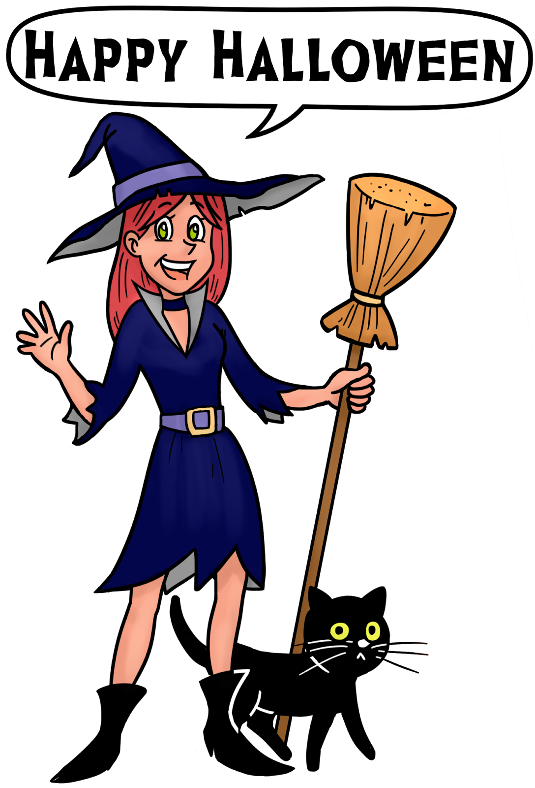 2017 halloween clipart clip art free library Kayness' Art Blog: Happy Halloween clipart clip art free library