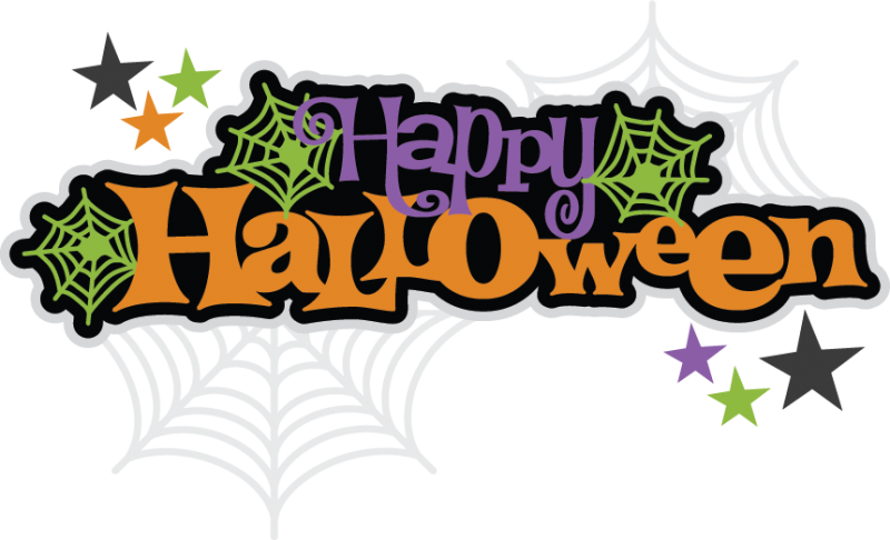 Happy halloween clipart banner svg black and white 28+ Collection of Free Happy Halloween Clipart | High quality, free ... svg black and white