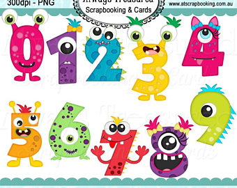 2017 numbers clipart clip download Monster Numbers | Clipart.Guru #67496 - Clipartimage.com clip download
