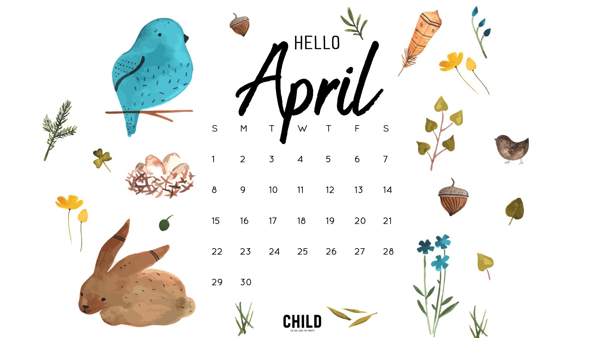 2018 april calendar clipart picture transparent download Free April Calendar Wallpaper picture transparent download