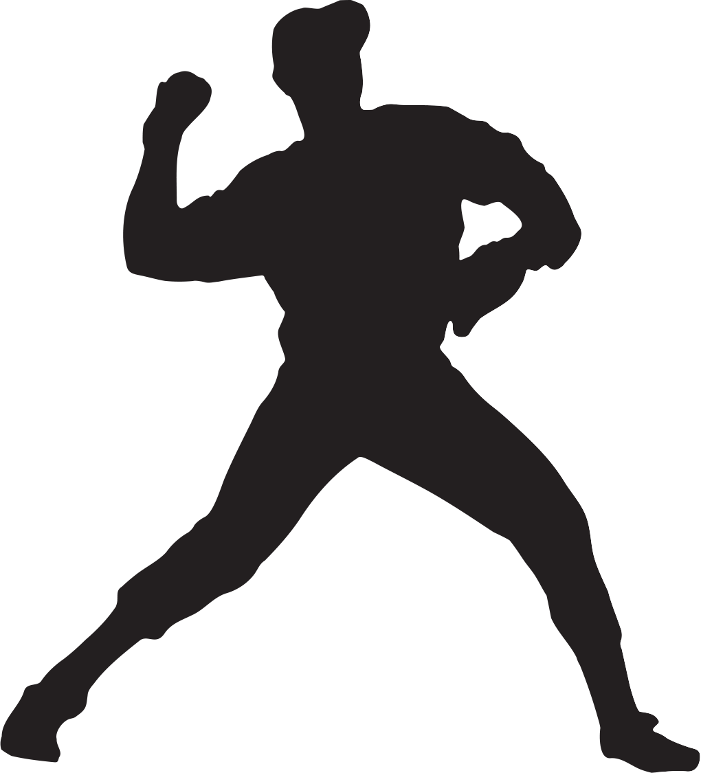 Player silhouette at getdrawings. Baseball related clipart