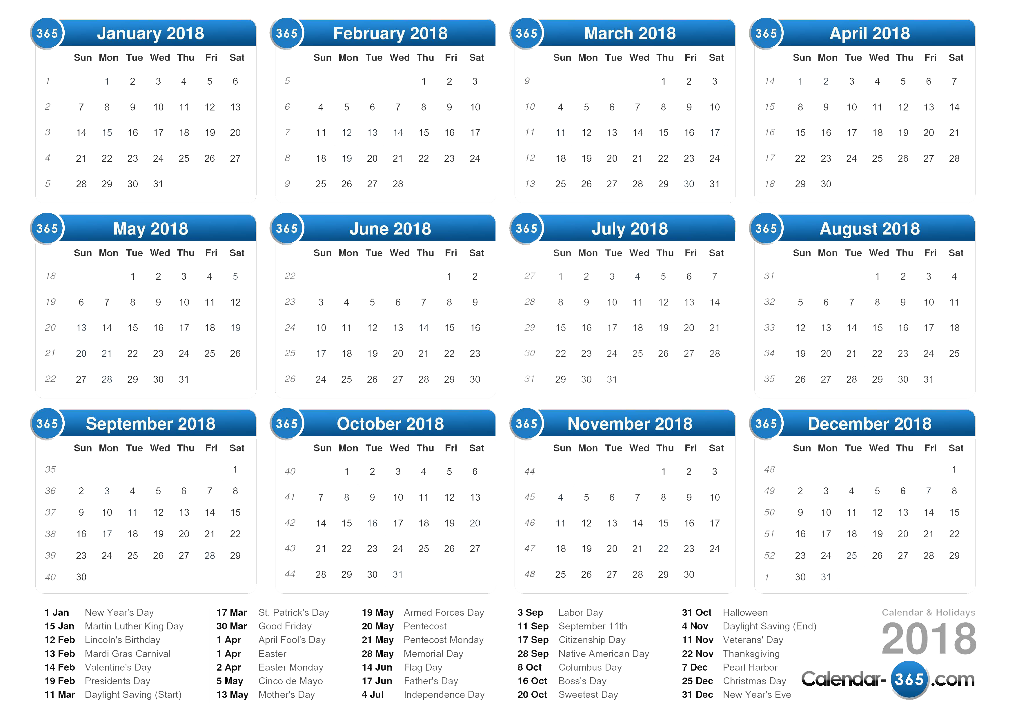2018 calendar clipart free download banner black and white download Download-2018-Calendar-PNG-Clipart - Free Transparent PNG Images ... banner black and white download
